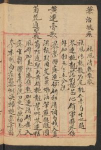 Chinese Medical Manuscripts 各科藥方 (Slg. Unschuld 8334)